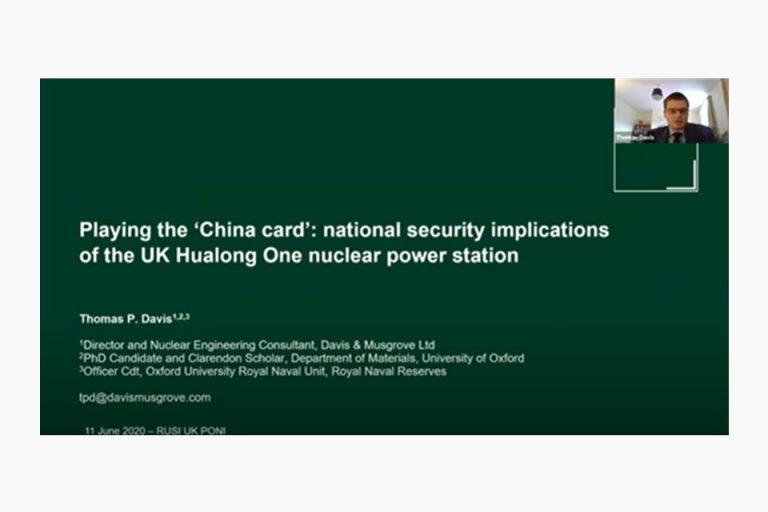 RUSI UK PONI 2020 Talk Thomas Davis